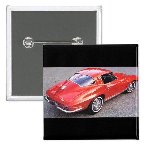 Classic Split Window Cars Pinback Buttons