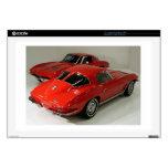 Classic Split Window Red Corvette Laptop Skin