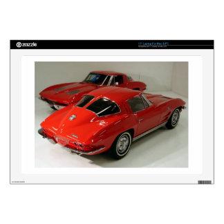 Classic Split Window Red Corvette Skin For Laptop