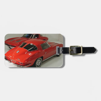 Classic Split Window Red Corvette Tags For Luggage