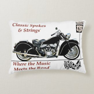 Classic Spokes & Strings Accent Pillow