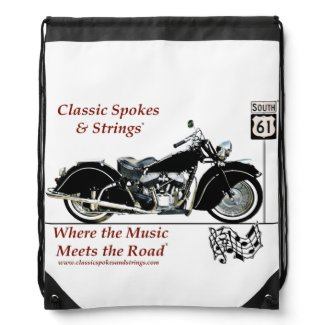 Classic Spokes & Strings Drawstring Backpack