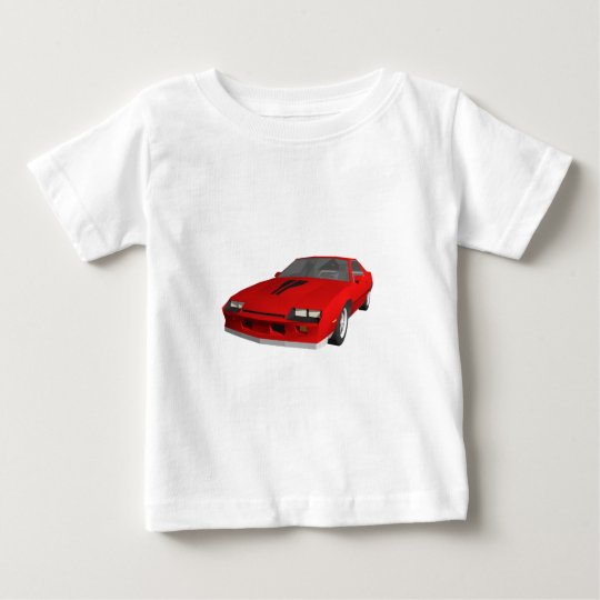 Classic Sports Car: 3D Model: Baby T-Shirt
