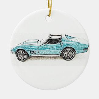 Classic Sports Car Ceramic Ornament