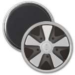 Classic sports car racing wheel used on 911 magnet