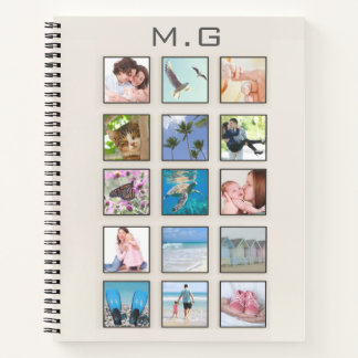 Classic Square Frame Photo Collage Notebook