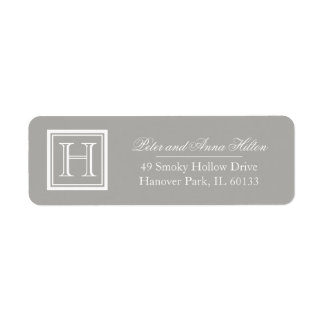 Classic Square Monogram Return Address Labels