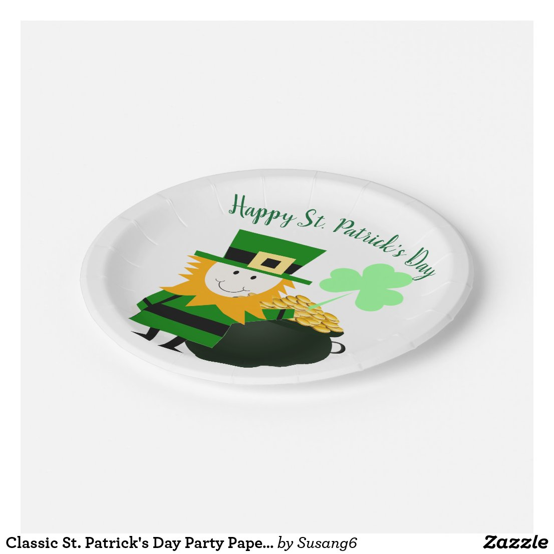 Classic St. Patrick's Day Party Paper Plate