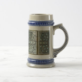 CLASSIC STAINED GLASS DESIGN 18 OZ BEER STEIN