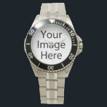 "Classic Stainless Steel Watch<br><div class=""desc"">Create your own personalized Stainless Steel Watch by adding your own designs,  text or images.</div>"