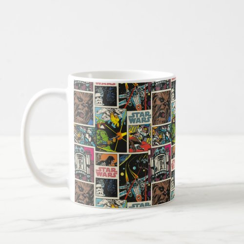 Classic Star Wars Comic Pattern Coffee Mug