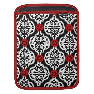 Classic Steampunk Gears Damask pattern iPad Sleeves