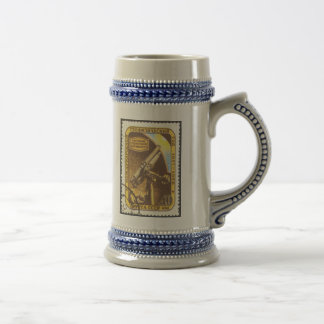 Classic Stein- USSR 1957 Astronomy Space Stamp Art Beer Stein