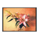 Classic still life flowers gallery wrap canvas