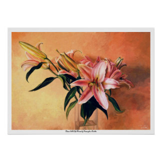 Classic still life flowers posters