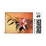 Classic still life flowers stamp