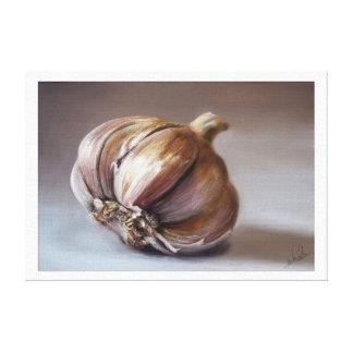 Classic still life garlic canvas gallery wrap canvas
