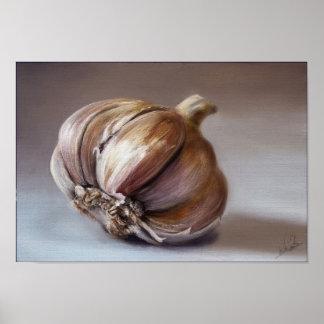 Classic still life garlic posters