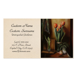 Classic Still Life in the Dark Room paint fine art Business Card Templates
