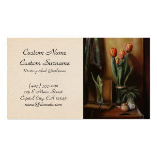 Classic Still Life in the Dark Room paint fine art Business Card