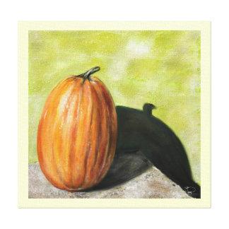 Classic still life pumpkin canvas stretched canvas print