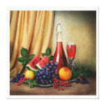 Classic still life with fruits and wine canvas stretched canvas prints