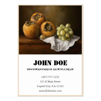 Classic Still Life with Persimmons and Grape paint Business Card Templates