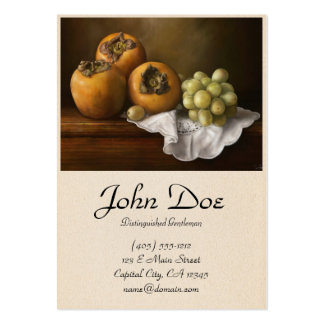 Classic Still Life with Persimmons and Grape paint Large Business Card