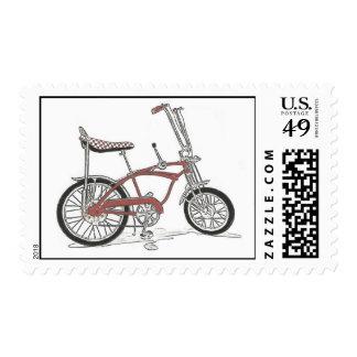 Classic Stingray Banana Seat Bicycle Stamp