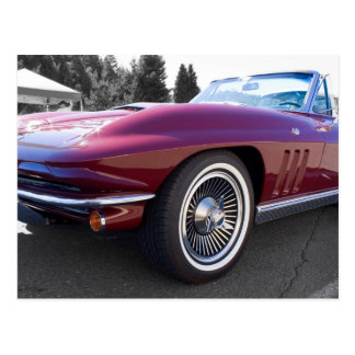 Classic Stingray Corvette Postcard