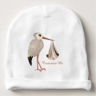 Classic Stork (Baby on the Way) Neutral 2 Baby Beanie