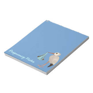 Classic Stork (Blue) 2 (Baby Shower) Notepads