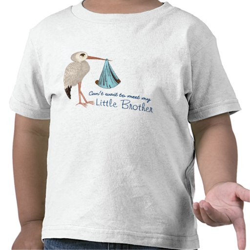 Classic Stork (Blue) 2 (Baby Shower) Tshirts