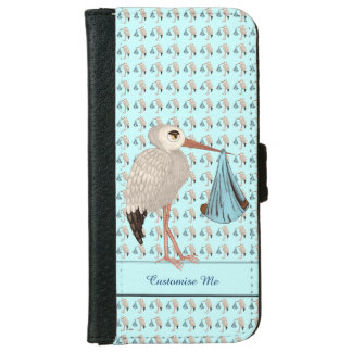 Classic Stork (Blue) 2 iPhone 6 Wallet Case