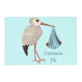 Classic Stork (Blue) 2 Placemat
