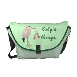 Classic Stork (Neutral) 1 (Baby Shower) Courier Bag