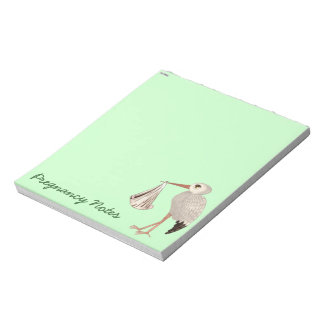 Classic Stork (Neutral) 1 (Baby Shower) Memo Note Pad