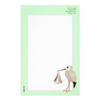 Classic Stork (Neutral) 1 (Baby Shower) Stationery