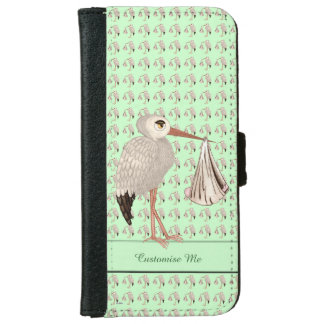 Classic Stork (Neutral) 1 iPhone 6 Wallet Case