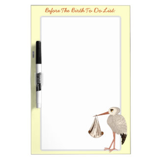 Classic Stork (Neutral) 2 (Baby Shower) Dry-Erase Board