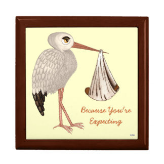 Classic Stork (Neutral) 2 (Baby Shower) Gift Box