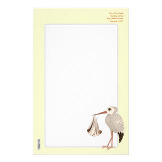 Classic Stork (Neutral) 2 (Baby Shower) Stationery