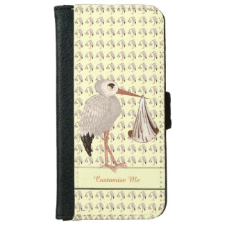 Classic Stork (Neutral) 2 iPhone 6 Wallet Case