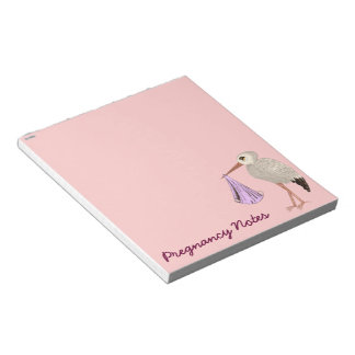 Classic Stork (Pink) (Baby Shower) Memo Notepads