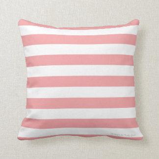 Classic Stripe Pillow in Coral/White