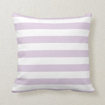 Beach Themed Classic Stripe Pillow in Lilac/White