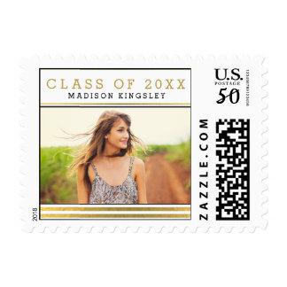 Classic Stripes Graduation Postage Stamp