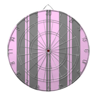 Classic Stripes in Grey & Baby Pink Dartboard