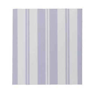 Classic Stripes in Grey & Dark Blue Notepad