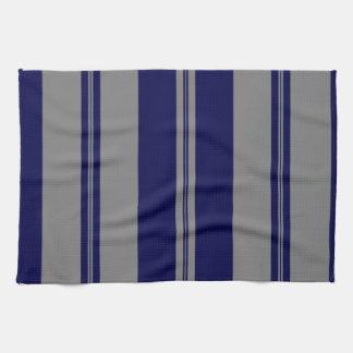 Classic Stripes in Grey & Dark Blue Towel